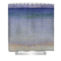 The Iles Dor Shower Curtain by Henri Edmond Cross