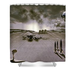 The Industrial Revolution Shower Curtain by Nathan Wright