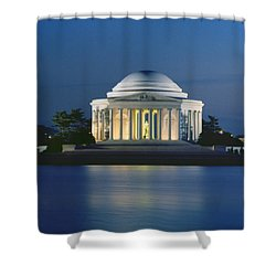The Jefferson Memorial Shower Curtain by Peter Newark American Pictures
