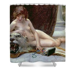 The Jewel Case Shower Curtain by Guillaume Seignac