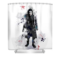 The Joker Shower Curtain by Marlene Watson