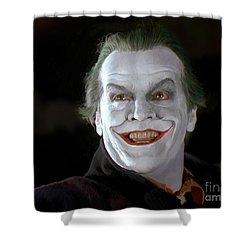 The Joker Shower Curtain by Paul Tagliamonte