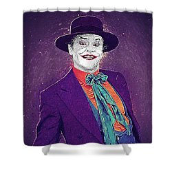 The Joker Shower Curtain by Taylan Apukovska