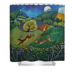The Joy Of Spring Shower Curtain by Lisa Graa Jensen