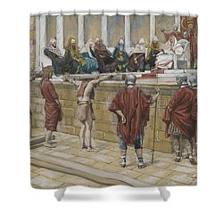 The Judgement On The Gabbatha Shower Curtain by Tissot
