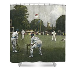 The Kent Eleven Champions, 1906 Shower Curtain by Albert Chevallier Tayler