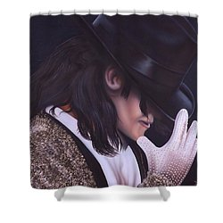 The King Of Pop Shower Curtain by Darren Robinson