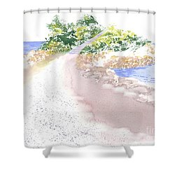 The Knob In Falmouth Shower Curtain by Joseph Gallant