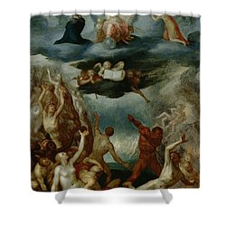 The Last Judgement  Shower Curtain by Martin Pepyn