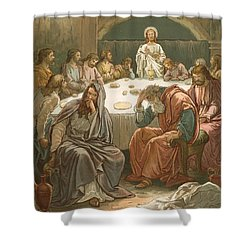 The Last Supper Shower Curtain by John Lawson