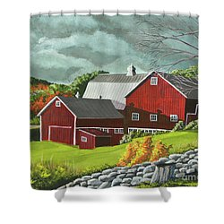 The Light After The Storm Shower Curtain by Charlotte Blanchard