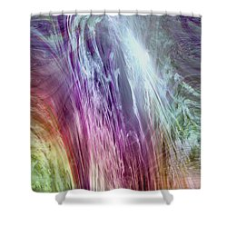 The Light Of The Spirit Shower Curtain by Linda Sannuti