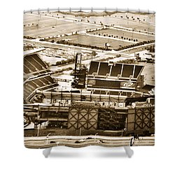 The Linc - Aerial View Shower Curtain by Bill Cannon
