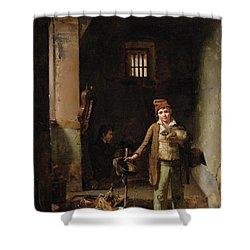 The Little Savoyards Shower Curtain by MotionAge Designs