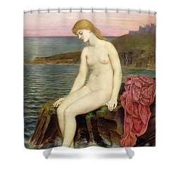 The Little Sea Maid  Shower Curtain by Evelyn De Morgan