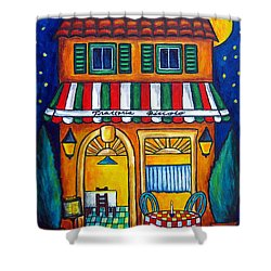 The Little Trattoria Shower Curtain by Lisa  Lorenz