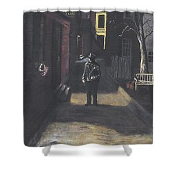 The Lonely Beat Shower Curtain by Jack Skinner