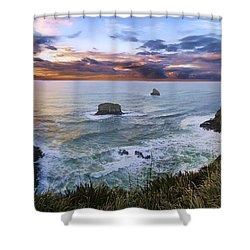 The Lookout Shower Curtain by James Heckt