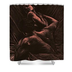 The Lovers Shower Curtain by Richard Young