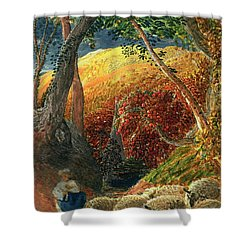 The Magic Apple Tree Shower Curtain by Samuel Palmer