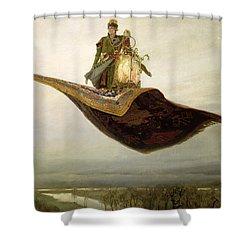 The Magic Carpet Shower Curtain by Apollinari Mikhailovich Vasnetsov