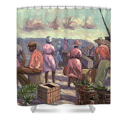 The Marketplace Shower Curtain by Carlton Murrell