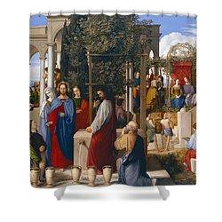 The Marriage At Cana Shower Curtain by Julius Schnorr von Carolsfeld