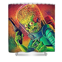 The Martian - Mars Attacks Shower Curtain by Taylan Soyturk
