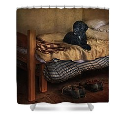 The Master's Shoes Shower Curtain by Robin-lee Vieira