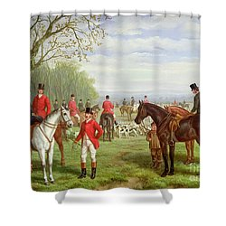 The Meet Shower Curtain by Edward Benjamin Herberte