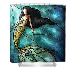 The Mermaid Shower Curtain by Mandie Manzano