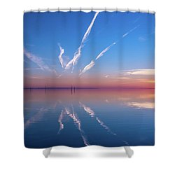 Shower Curtain featuring the photograph The Mirror by Thierry Bouriat