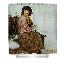The Mistletoe Gatherer Shower Curtain by Sir John Everett Millais