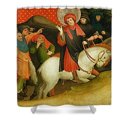 The Mocking Of Saint Thomas Shower Curtain by Master Francke