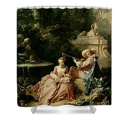 The Music Lesson Shower Curtain by Francois Boucher