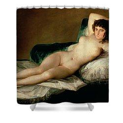 The Naked Maja Shower Curtain by Goya