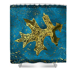 The Oak Leaf And The Wind Storm Shower Curtain by Tim Allen