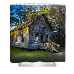 The Old Church Shower Curtain by Marvin Spates