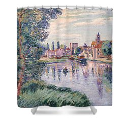 The Old Samois Shower Curtain by Jean Baptiste Armand Guillaumin