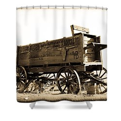 The Old Wagon Shower Curtain by Steve McKinzie