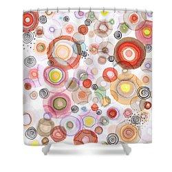 The Orbits Of Joy Shower Curtain by Regina Valluzzi