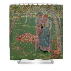 The Orchard Shower Curtain by Nelly Erichsen