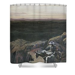 The Overlook Shower Curtain by Mia DeLode