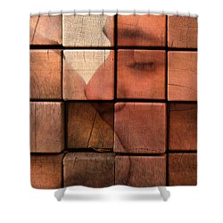 The Passion Of A Kiss 2 Shower Curtain by Mark Ashkenazi