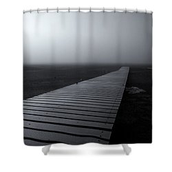 The Path Shower Curtain by Mike  Dawson
