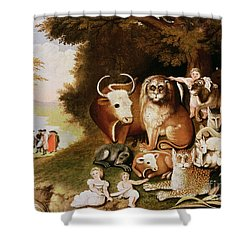 The Peaceable Kingdom Shower Curtain by Edward Hicks