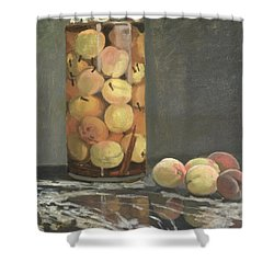 The Peach Glass Shower Curtain by Claude Monet