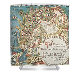 The Peacocks Complaint Shower Curtain by English School