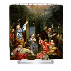 The Pentecost Shower Curtain by Louis Galloche