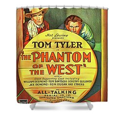 The Phantom Of The West 1931 Shower Curtain by Mountain Dreams
